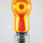 Bottle Stopper – SpectraPly-Tequila Sunrise with Stainless Steel