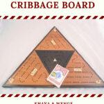 ICB-0039 Triangle Cribbage Board Khaya & Wenge with Holly High