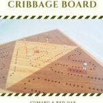 ICB-0042 Triangle Cribbage Board Cumaru Red Oak Side