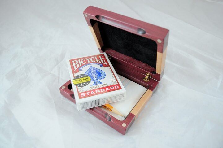 Playing Card Case #52 - Purpleheart & Curly Maple Cards