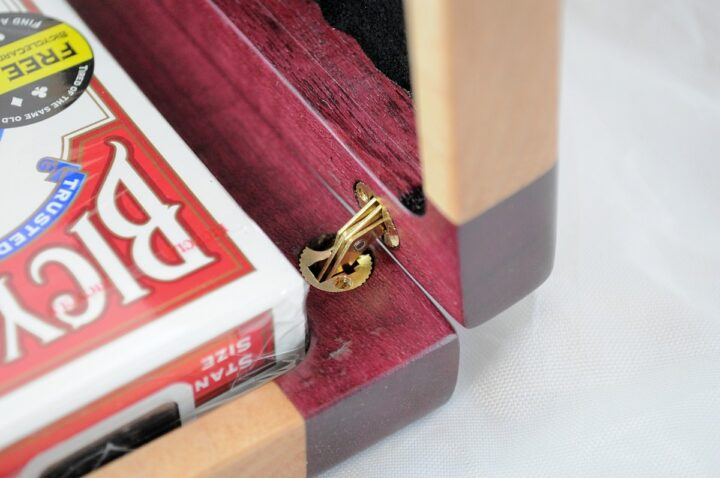 Playing Card Case #52 - Purpleheart & Curly Maple Hinges