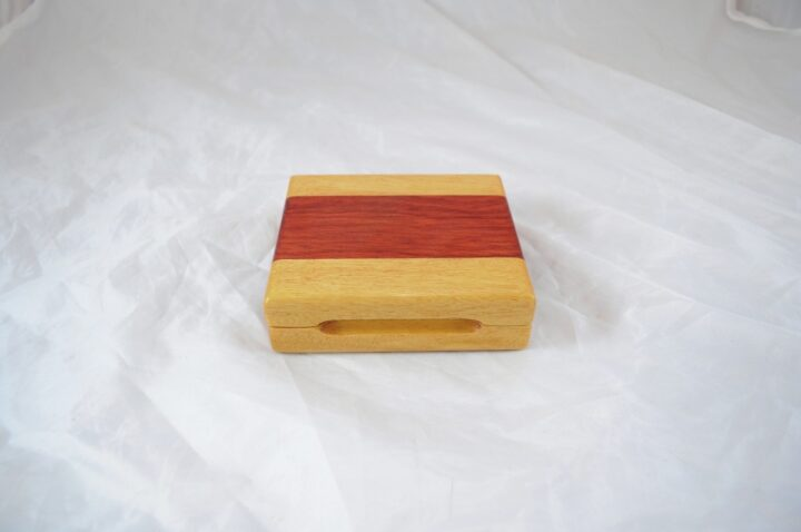 Playing Card Case #56 - Yellowheart & Bloodwood Closed