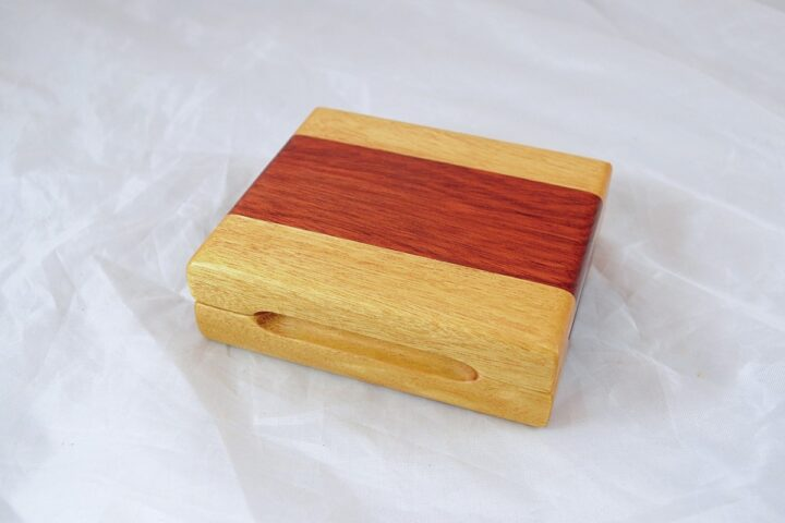 Playing Card Case #56 - Yellowheart & Bloodwood