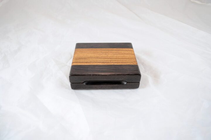 Playing Card Case #57 - Wenge & Zebrawood Closed