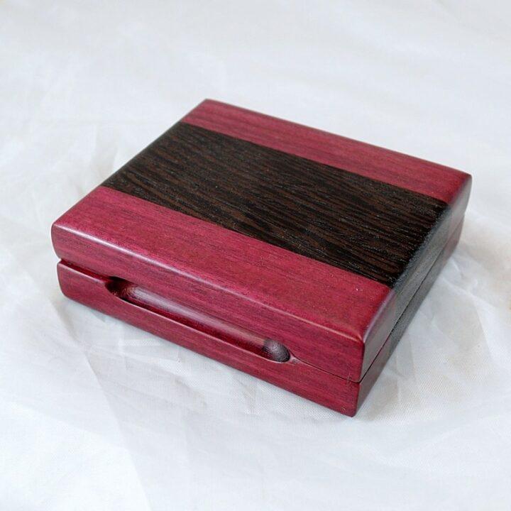 Playing Card Case #58 - Purpleheart & Wenge