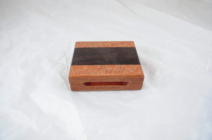 Playing Card Case #59 - Lacewood & Wenge Closed