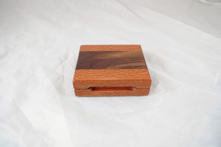 Playing Card Case #60 - Lacewood & Wenge Closed