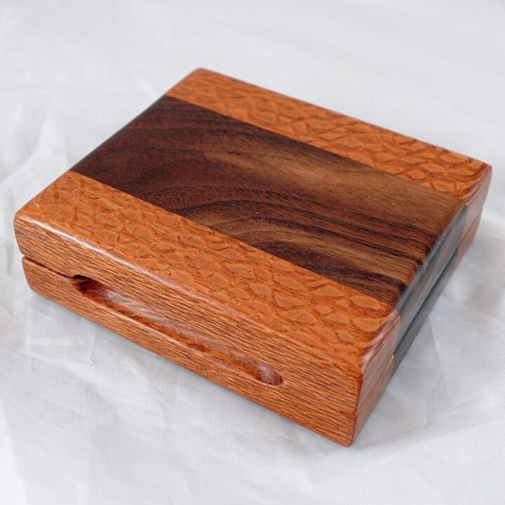 Playing Card Case #60 - Lacewood & Wenge