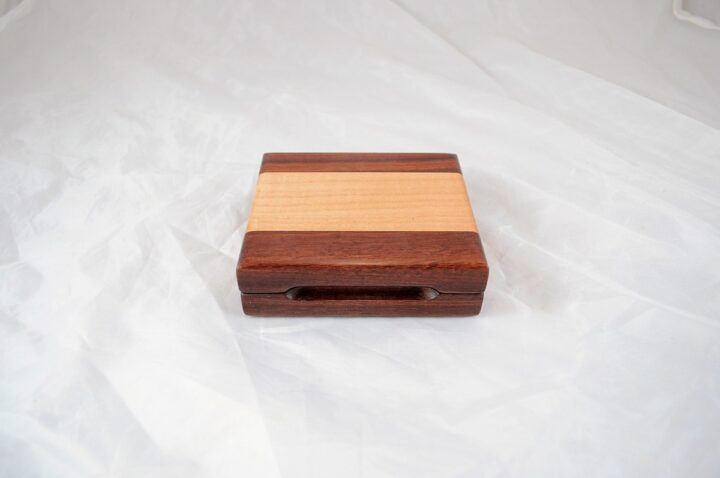 Playing Card Case #61 - Granadillo & Curly Maple Closed