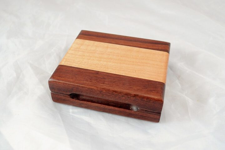 Playing Card Case #61 - Granadillo & Curly Maple