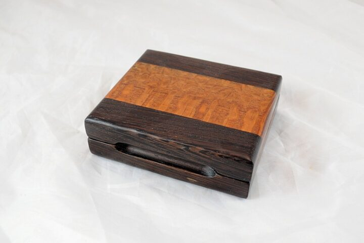 Playing Card Case #62 - Wenge & Leopardwood