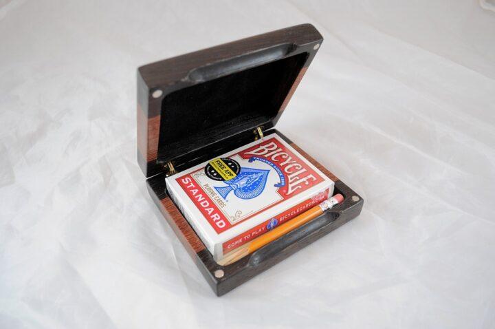 Playing Card Case #63 - Wenge & Cumaru Open