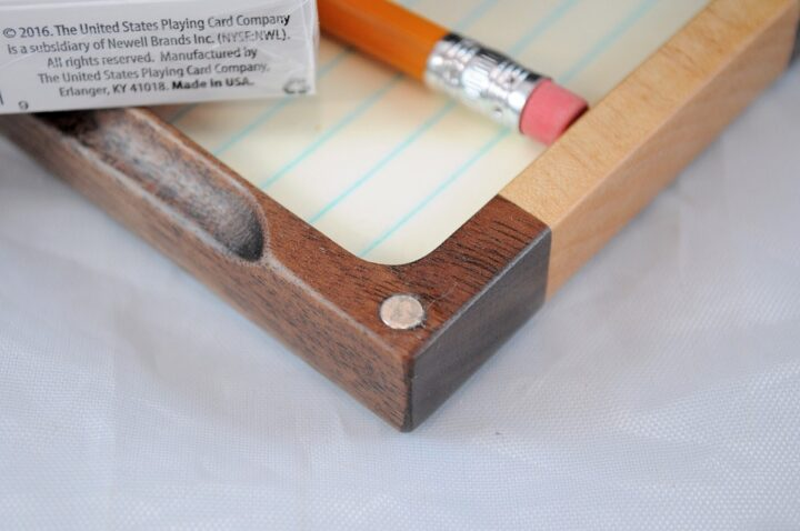 Playing Card Case #64 - Black Walnut & Curly Maple Magnets