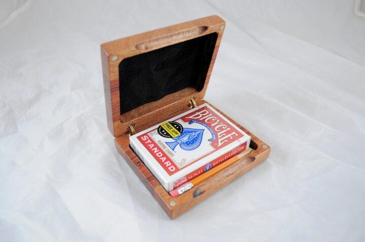 Playing Card Case #65 - Khaya & Monkeywood Open