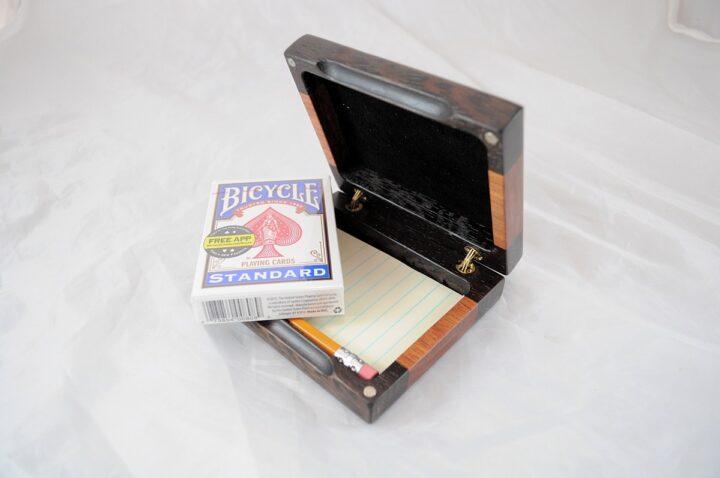 Playing Card Case #67 - Wenge & Monkeywood Cards