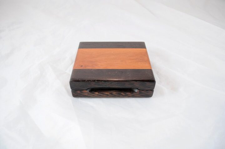 Playing Card Case #67 - Wenge & Monkeywood Closed