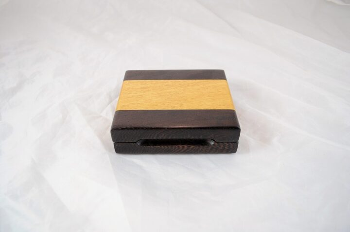 Playing Card Case #68 - Wenge & Yellowheart Closed