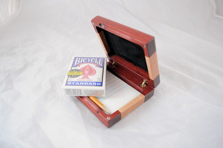 Playing Card Case #69 - Bloodwood & Curly Maple Cards