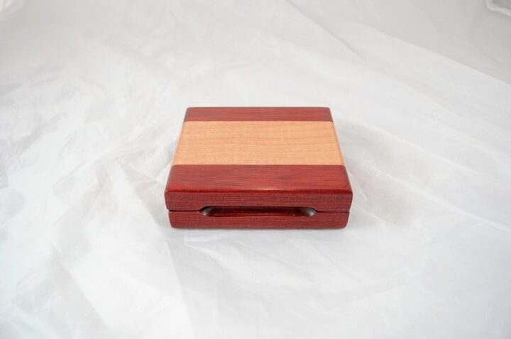 Playing Card Case #69 - Bloodwood & Curly Maple Closed