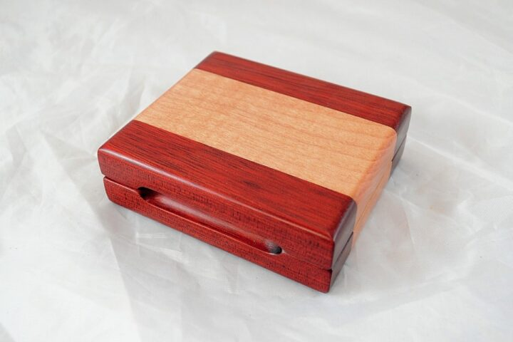 Playing Card Case #69 - Bloodwood & Curly Maple