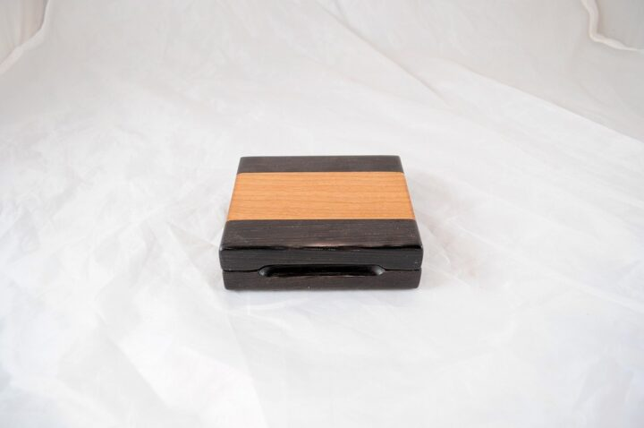Playing Card Case #72 - Wenge & Black Cherry Closed
