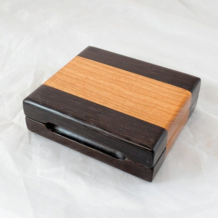 Playing Card Case #72 - Wenge & Black Cherry