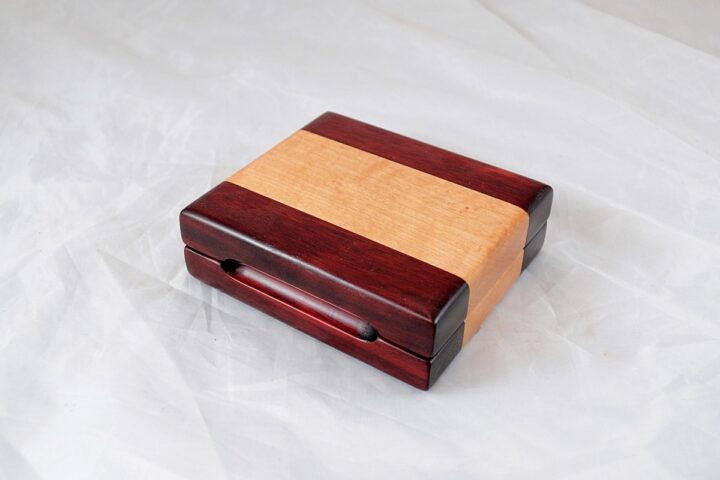 Playing Card Case #73 - Bloodwood & Curly Maple