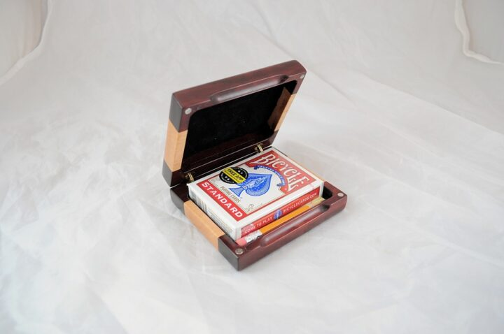 Playing Card Case #73 - Bloodwood & Curly Open
