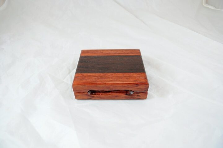 Playing Card Case #75 - Bubinga & Wenge Closed