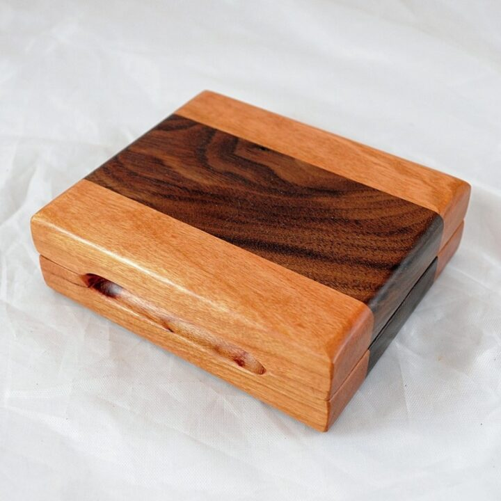 Playing Card Case #76 - Black Cherry & Black Walnut