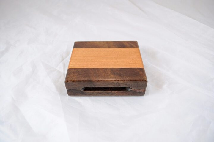 Playing Card Case #77 - Black Walnut & Black Cherry Closed