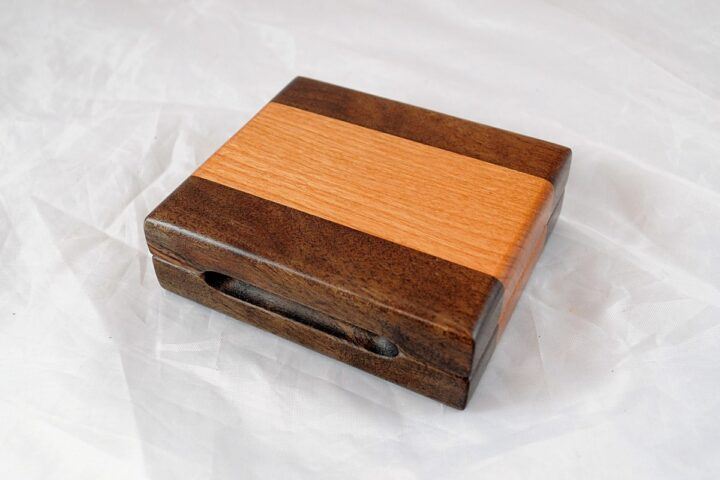 Playing Card Case #77 - Black Walnut & Black Cherry