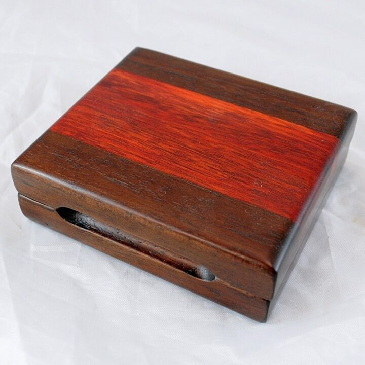 Playing Card Case #78 - Peruvian Walnut & Bloodwood