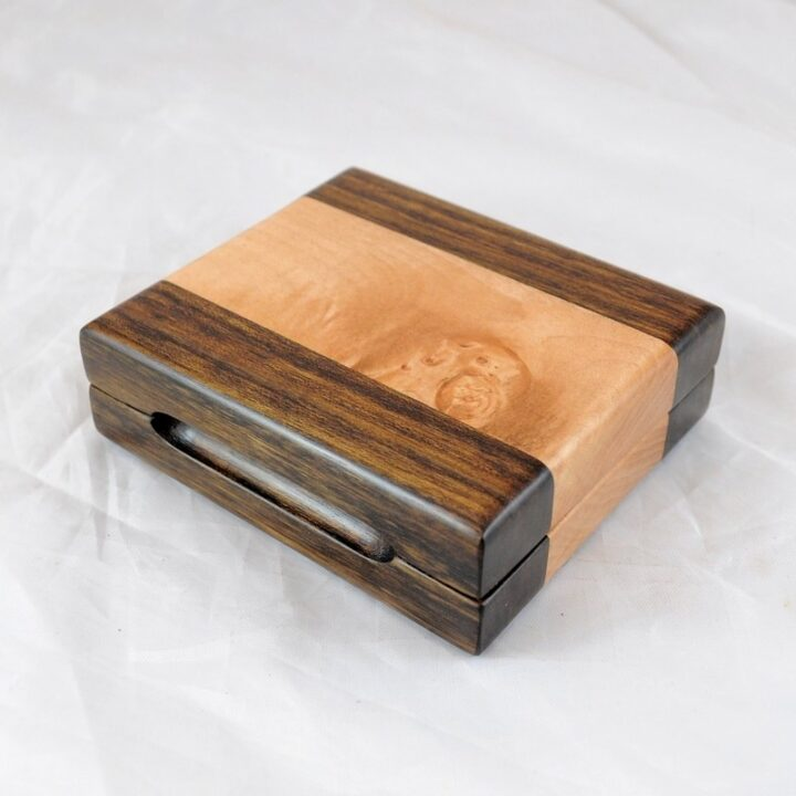Playing Card Case #81 - Shedua & Curly Maple