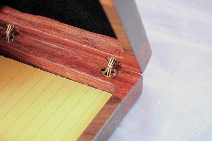 Playing Card Case #83 - Monkeywood & Black Walnut Hinges