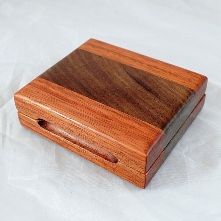 Playing Card Case #83 - Monkeywood & Black Walnut