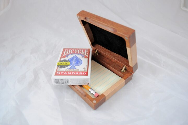 Playing Card Case #84 - Leopardwood & Curly Maple Cards
