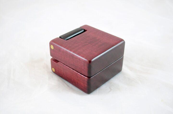 Purpleheart & Peruvian Walnut Ring Box