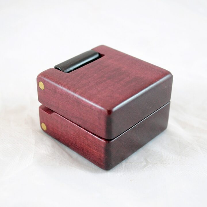 Purpleheart & Peruvian Walnut Ring Box