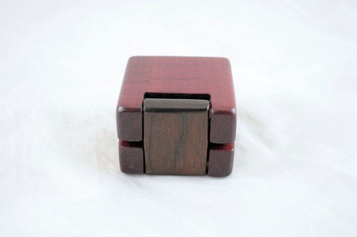 Ring Box - Purpleheart & Peruvian Walnut - Back