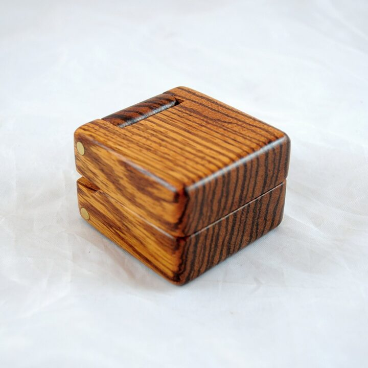 Ring Box - Zebrawood