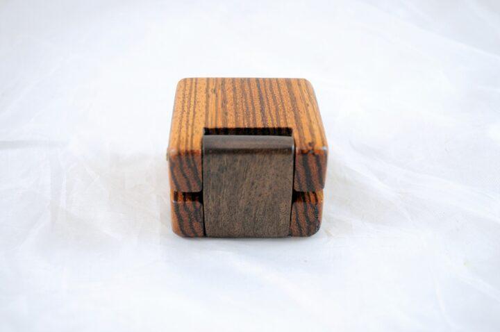 Ring Box Back - Zebrawood & Claro Walnut