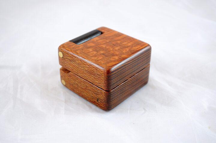 Ring Box - Leopardwood & Wenge