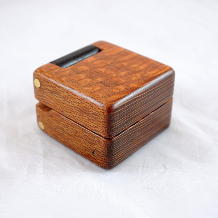 Ring Box - Leopardwood & Wenge