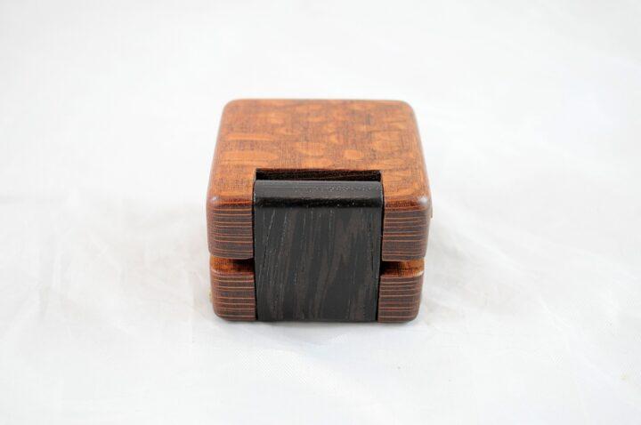 Ring Box - Leopardwood & Wenge - Back