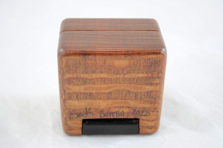 Ring Box - Leopardwood & Wenge - Bottom