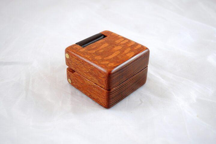 Ring Box - Leopardwood & Peruvian Walnut