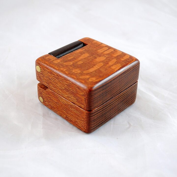 Ring Box - Leopardwood & Peruvian Walnut