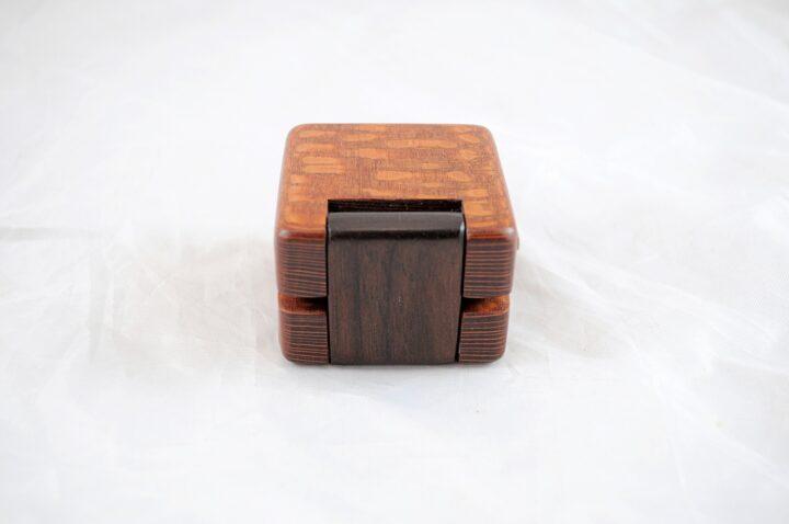 Ring Box - Leopardwood & Peruvian Walnut - Back