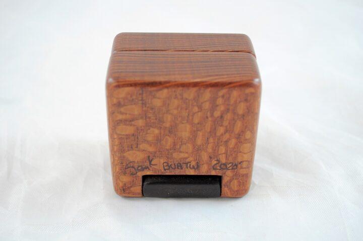 Ring Box - Leopardwood & Peruvian Walnut - Bottom